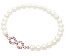 Armband Infinity Perle Swarovski® Kristalle 925 Silber Lié