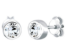 Ohrringe Klassisch Swarovski® Kristalle 925 Sterling Silber