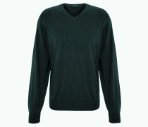 Pullover, Feinstrick, Pima-Baumwolle, V-Ausschnitt