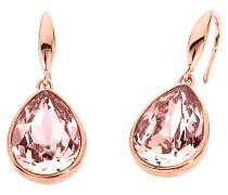 Tropfen-Ohrhänger mit Swarovski® Kristallen rosévergoldet