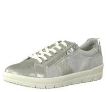 Sneaker low, Metallic-Look, Schnürung