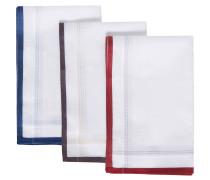 Taschentuch, 3er-Pack, Bordüre