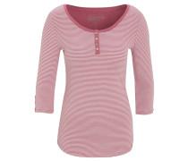 Shirt, 3/4 Arm, Streifen, Henley-Ausschnitt
