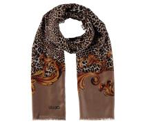 Schal, Leoparden-Muster, Fransen an den Enden
