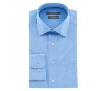 Businesshemd, Comfort Fit, Kent-Kragen, Waben-Muster, Brusttasche