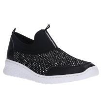 Sneaker, Slip-Ons-Stil, Ziersteinbesatz, Logo-Detail, Reflektor