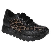 Sneaker, herausnehmbare Ledersohle, Animal-Optik