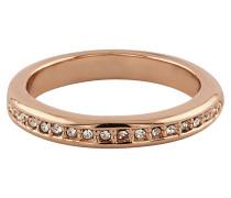 Ring roséveret mit Kristallen Messing rotveret rosa 430070053