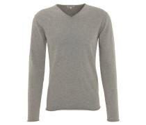 Pullover, Baumwolle, V-Ausschnitt, Rollsaum