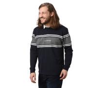 Poloshirt, Baumwolle, Streifen, Logo-Stickerei, Rippbündchen
