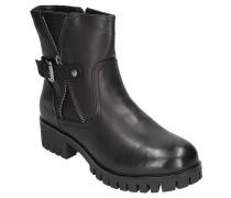 Boots, Zier-Reißverschluss, Kunstleder, Schnalle