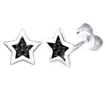 Ohrringe Stern Swarovski® Kristalle Astro Trend 925 Silber