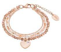 Armband mit Herz 2018356 IP Rose Edelstahl