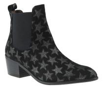 """Chelsea Boots """"Star"""", Glitzer-Sterne, Veloursleder"""