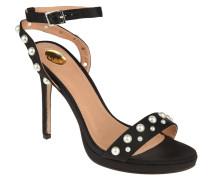 Sandaletten, Riemchen, Perlen-Verzierung