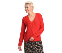 Pullover, Strick, mit Wolle, V-Ausschnitt