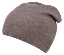 Mütze, Kaschmir, Rippbündchen, handgemacht, uni