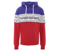 Sweatshirt, Logo-Print, Kapuze, meliert