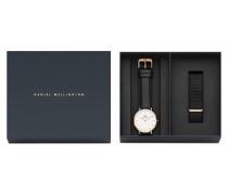 Geschenkset - Männer Classic Sheffield 40mm RG White + Strap Cornwall RG DW00500002