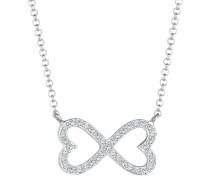 Halskette Herz Infinity Swarovski® Kristalle 925er