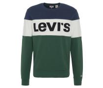 Sweatshirt, Baumwolle, Streifen, Logo-Applikation