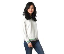 Sweatshirt, strukturiert, gestreifte Rippbündchen