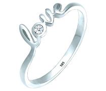 Ring Love-schriftzug Diamant (0.03 Ct.) 585 gold