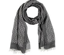 Schal, eingewebtes Logo-Muster, Fransen