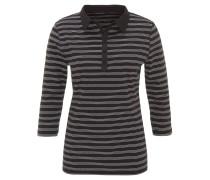 Shirt, reine Bio-Baumwolle, 3/4-Armlänge, gestreift, Polo-Kragen