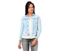 Jeansjacke, Slim Fit, Streifen, Brusttaschen