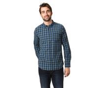 Freizeithemd, Baumwolle, strukturiert, Karo, Button-Down-Kragen