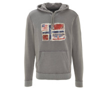 Sweatshirt, Kapuze, Baumwolle, Logo-Aufnäher