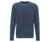 Pullover, uni, Ripp-Struktur