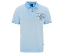 Poloshirt, Kurzarm, Regular Fit, Piqué, Washed-Out, Print