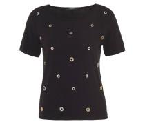 T-Shirt, Lochnieten, Rundhalsausschnitt