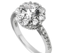 Ring, Sterling  925, -Zirkonia, zus. 2,72 ct