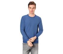 Pullover, Strick-Muster, Rundhalsausschnitt, Rippbündchen