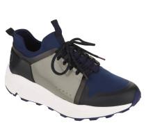Sneaker, Marken-Print, Plateau, zweifarbig