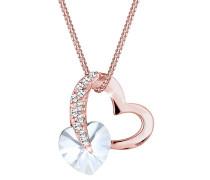 Halskette Herz Liebe Swarovski® Kristalle 925 Silber