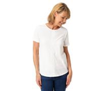 """T-Shirt """"Hannah"""", Regular Fit, Flammgarn, Häkel-Bordüre"""