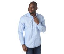 Freizeithemd, Regular Fit, Saum-Kontrastnaht, Punkte-Muster