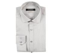Businesshemd, Shape Fit, gemustert, Baumwolle