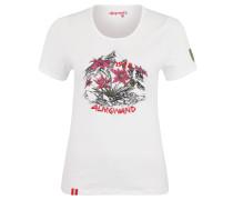 T-Shirt, gestickter Label-Schriftzug