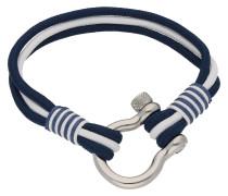 Armband, Seil, 3 rhg., marine / weiß 21 cm