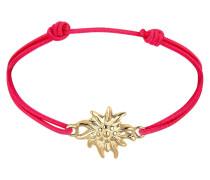 Armband Edelweiss Blume Wiesn Trachten Nylon 925 Silber