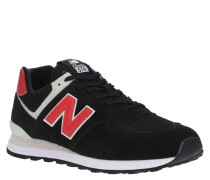 """Sneaker """"ML574"""", Veloursleder, Mesh-Partien, Kontrast-Logo"""
