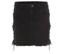 Jeansrock, Fransen-Saum, Jeans-Look