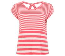 T-Shirt, Rückenausschnitt, gestreift