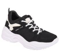 XL-Sneaker, strukturierte Sohle, Mesh-Einsätze, Schnürung