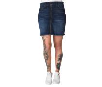 Jeansrock, ausgefranster Saum, Reißverschluss